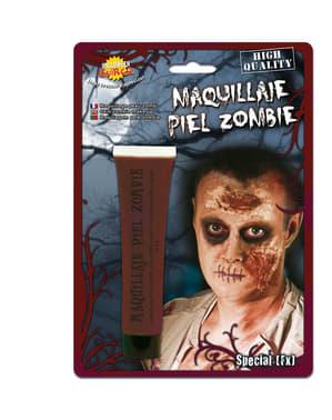 Maquilhagem pele de zombie roxo