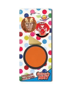 Orange make-up with sponge