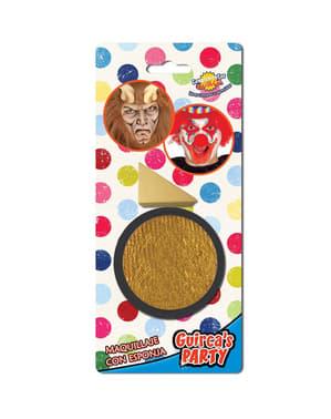 Maquilhagem dourada com esponja
