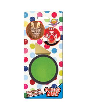 Maquilhagem verde claro com esponja