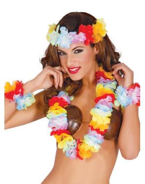 Conjunto de acessórios havaianos para mulher