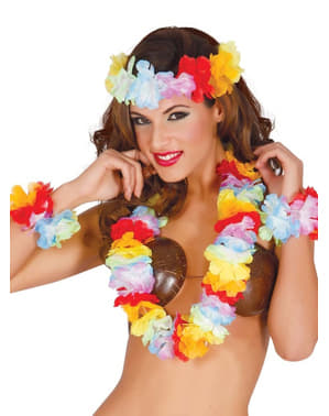 Set accessori hawaiani donna