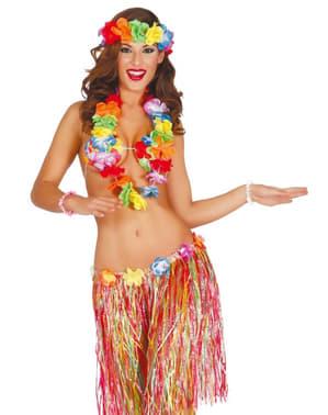 Kit disfraz hawaiano para mujer