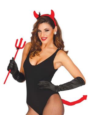 Conjunto Fantasia de diabinha sensual para mulher