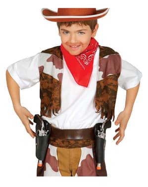 Cartucheira dupla com pistolas para menino