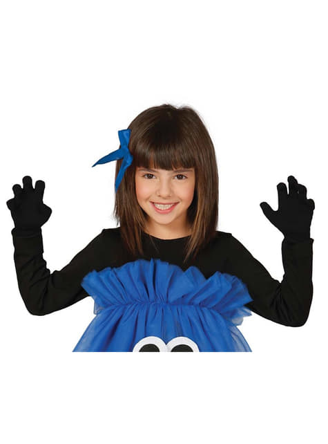 Girls black infants gloves