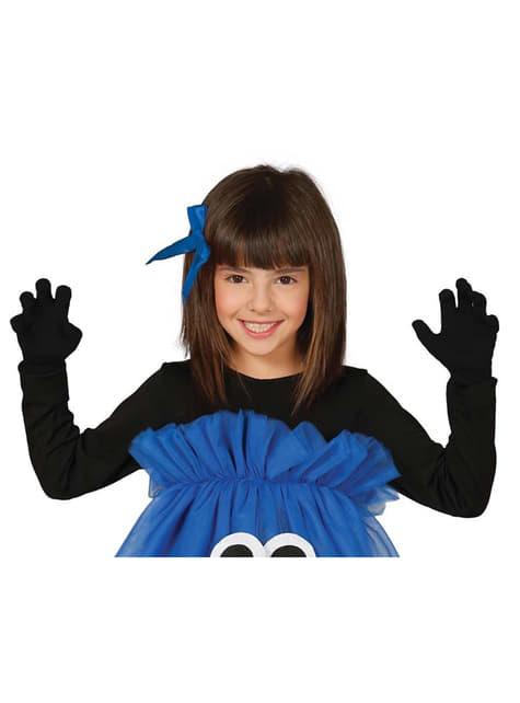 女の子黒幼児手袋