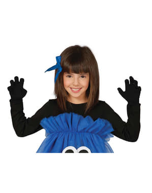Luvas infantis pretas para menina