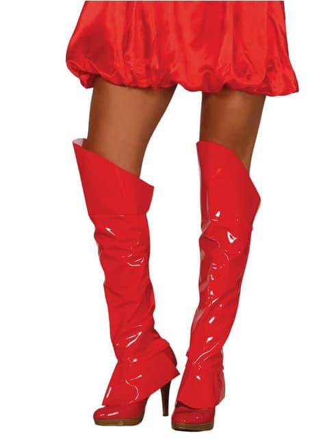 cubrebotas rojas sexys para mujer