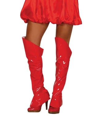 Rode sexy boot covers voor vrouw