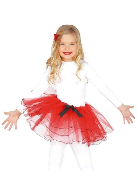 Tutú rojo para niña