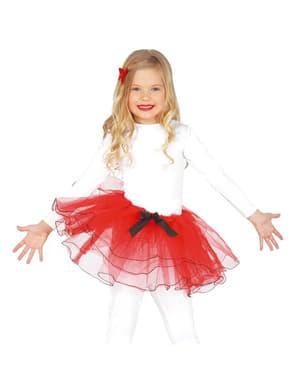 Rødt balletskørt til piger
