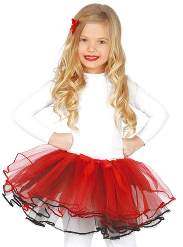 Girls Red Deluxe Tutu The Coolest Funidelia
