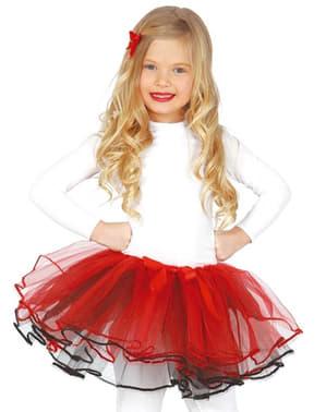 Rødt balletskørt deluxe til piger