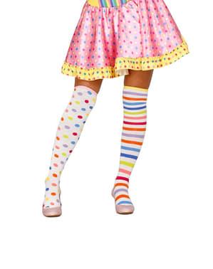Дамски чорапи с клоун