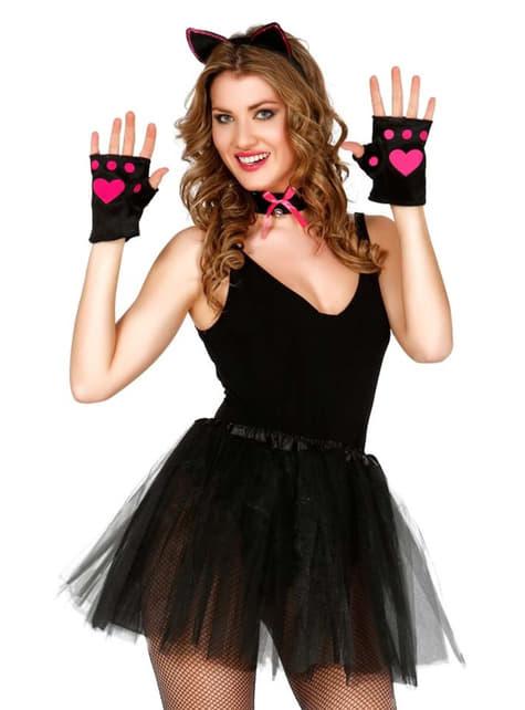 Kit disfraz de gatita para mujer