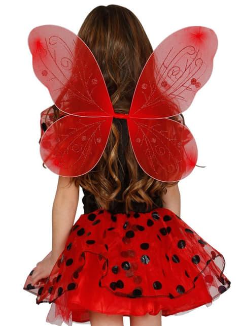 Κορίτσια κόκκινα φτερά πεταλούδας
