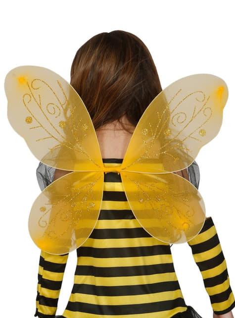 Κορίτσια κίτρινα πτερύγια μέλισσα