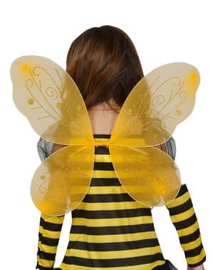 Aripi de albinuță galbenă pentru fetiță