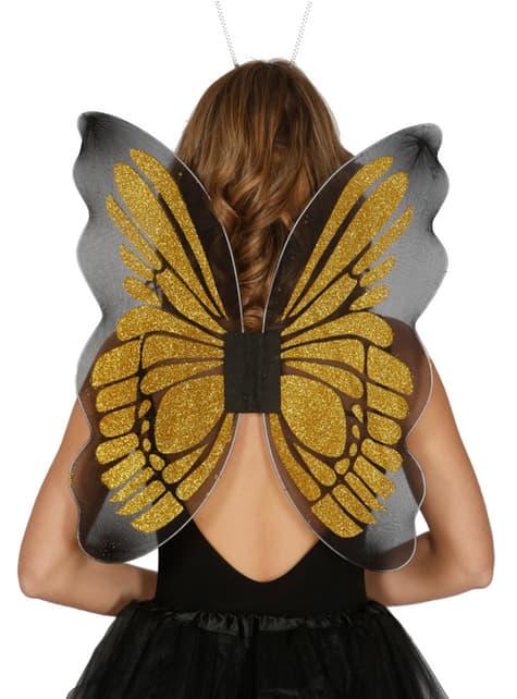 Alas de mariposa de oro para mujer