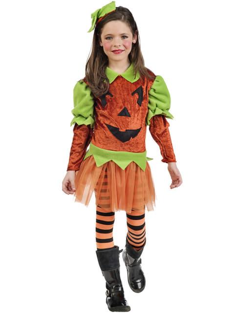 Disfraz de calabaza tétrica para niña
