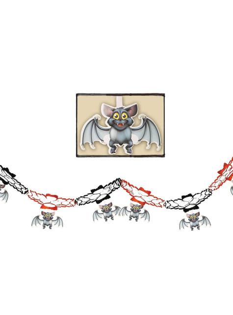 Γιρλάντα με Σημαιάκια Νυχτερίδες