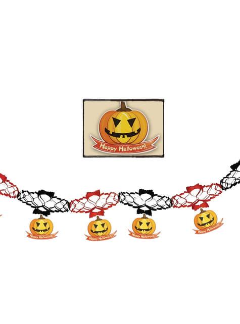 Guirnalda de calabazas de halloween