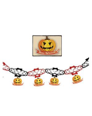 Grinalda de abóboras de halloween