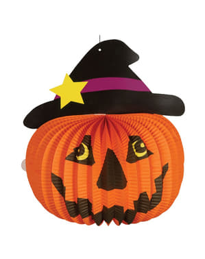 Halloween Laterne mit Kürbis Motiv