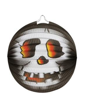 Halloween Laterne mit Skelett Motiv