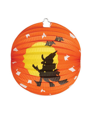 Halloween Laterne mit Hexen Motiv