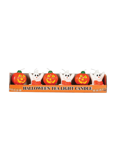 6 Halloween candles