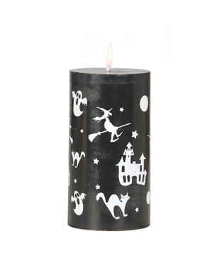 거대한 할로윈 촛불
