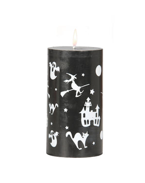 Jättikokoinen halloween kynttilä
