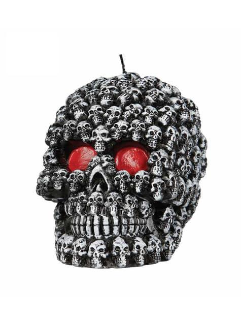 Bougie tête de mort halloween femme