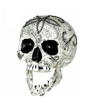 Figurine décorative tête de mort diamant