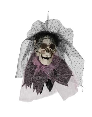 Hängende Totenkopf Figur mit Schleife