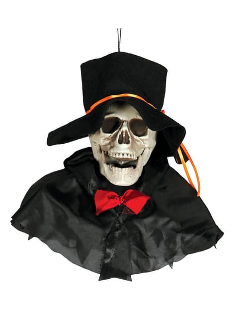 Tête de mort chapeau à suspendre