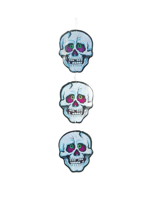 3 Dekorative Totenkopf Figuren