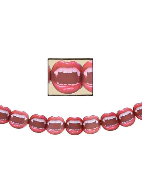 Guirnalda boca de vampiro