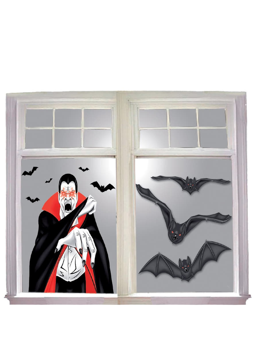 D coration fen tre vampire pour halloween funidelia for Decoration fenetre statique