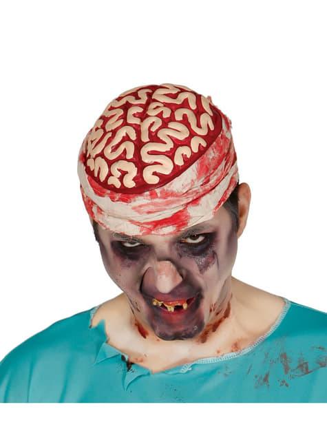 Cerebro zombie con venda para hombre