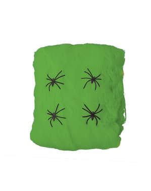 Toile d'araignée verte 60 gr