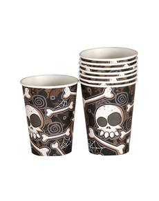 Set de 8 vasos de Halloween esqueletos