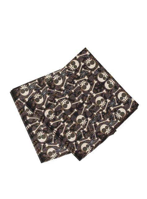 20 Serviettes en papier Halloween squelette (33x33 cm)