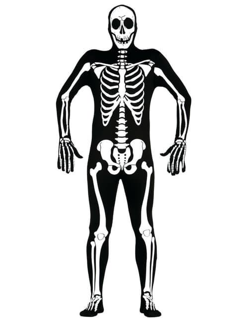 Second skin skeleton adult costume