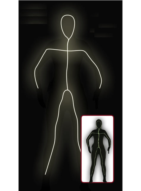 Light UP Stick Man Costume for Adults