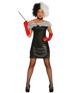Womens sexy Cruella De Vil costume