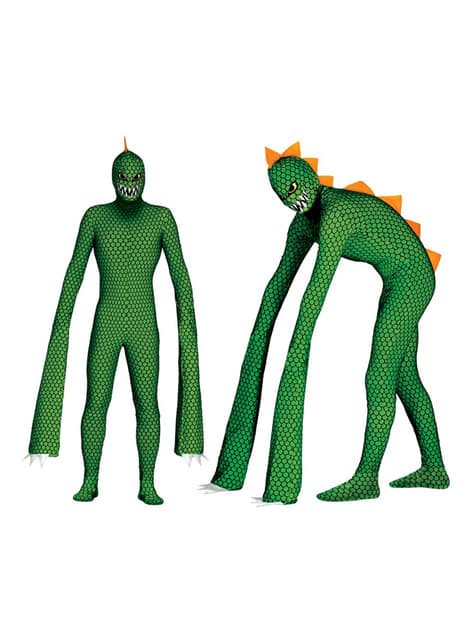Mens mutant reptile costume