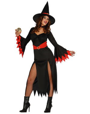 Dámský kostým sexy čarodějnice červený